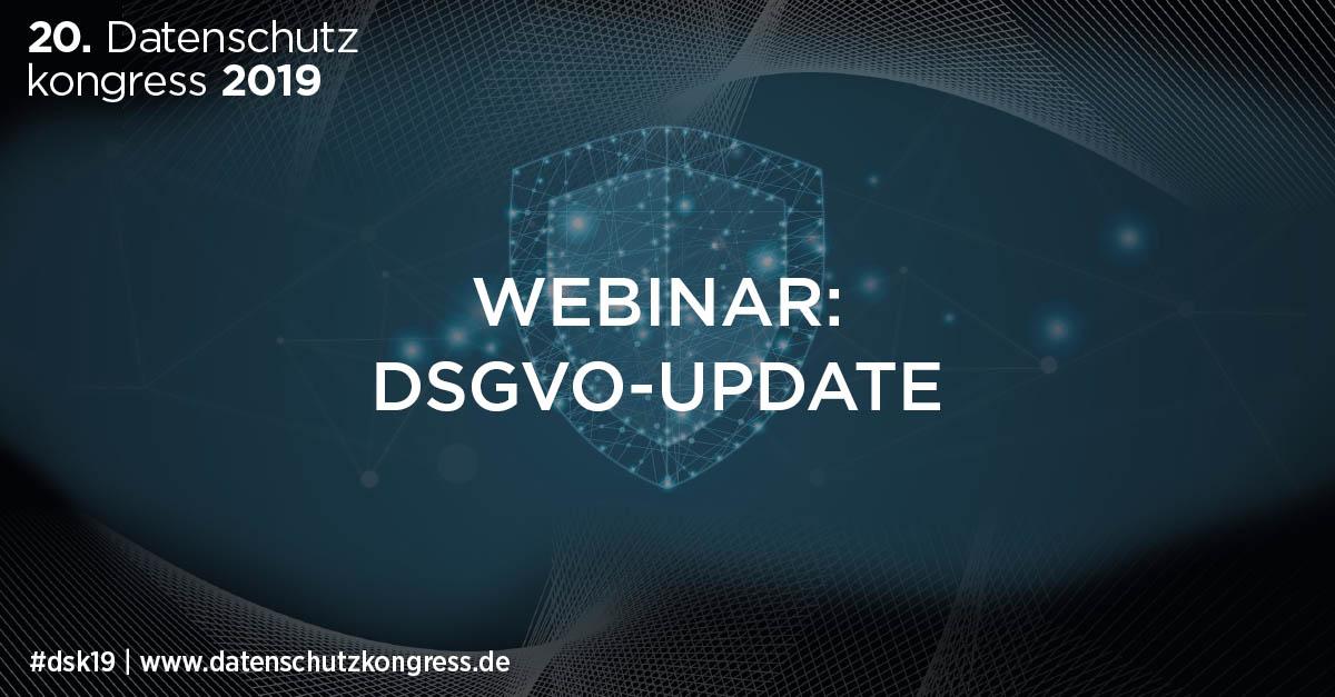 Webinar DSGVO update