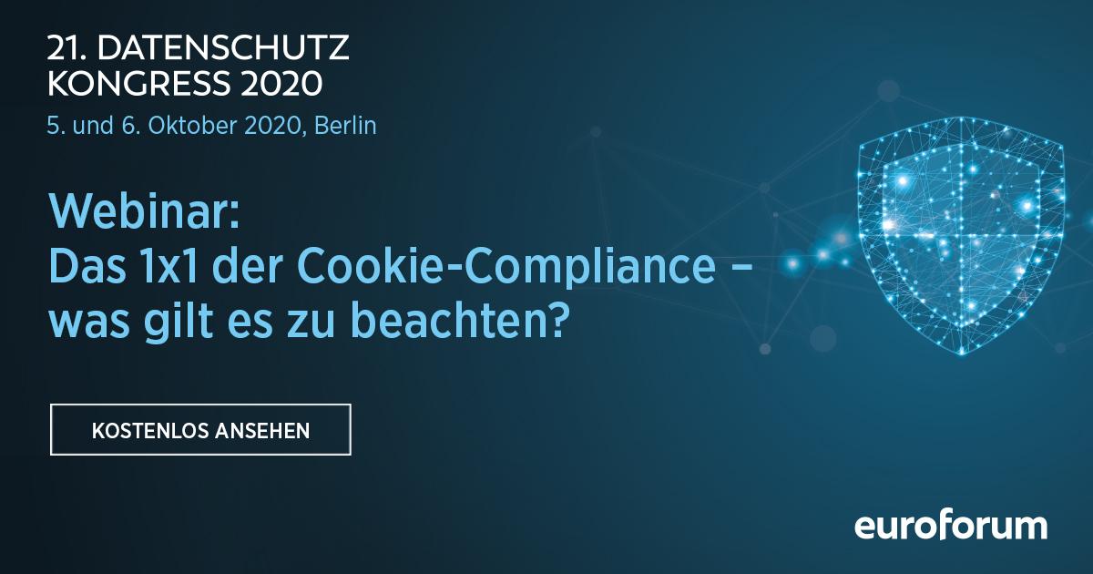 Webinar: Das 1x1 der Cookie-Compliance – was gilt es zu beachten?