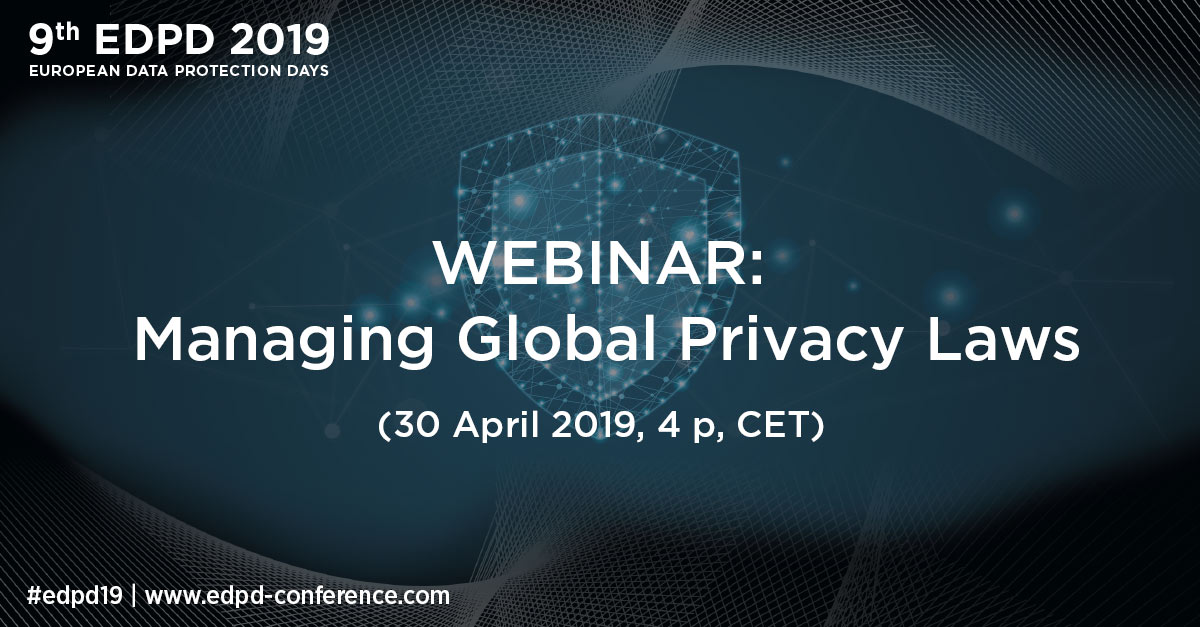 Webinar: Managing Global Privacy Laws: