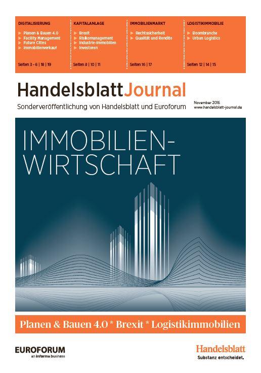 Front Handelsblatt Journal Immobilienwirtschaft