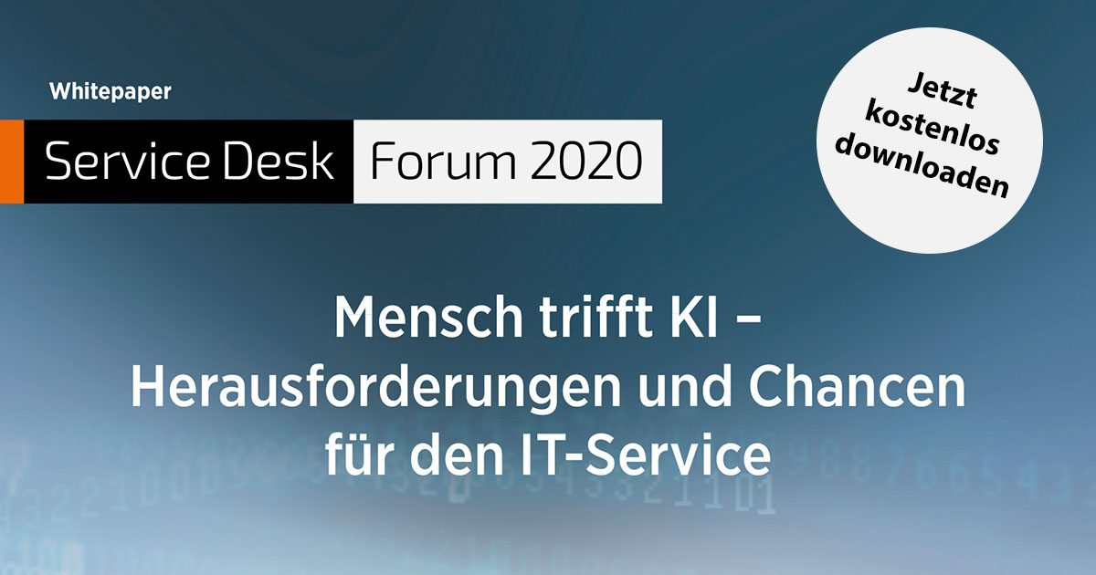 Whitepaper: Mensch trifft KI – Herausforderungen und Chancen für den IT-Service